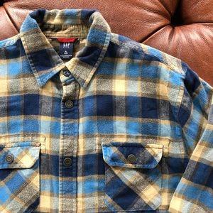 3/$21 GAP Flannel Plaid Shirt 100% Cotton YXL 12